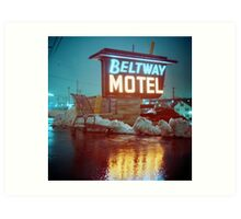 Evening at the Beltway Motel Art Print