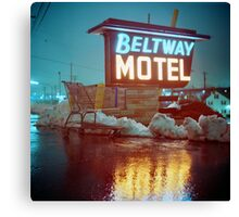 Evening at the Beltway Motel Canvas Print