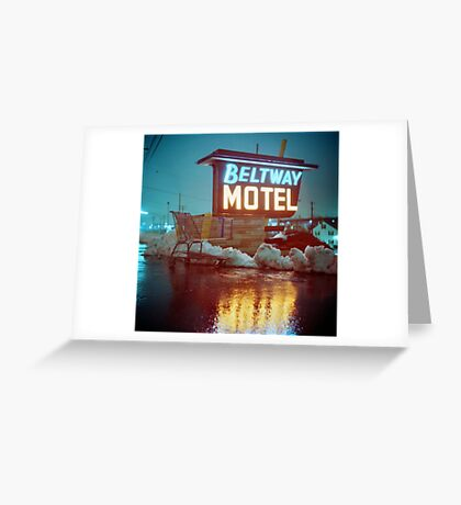 Evening at the Beltway Motel Greeting Card