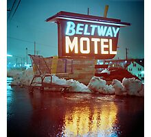 Evening at the Beltway Motel Photographic Print