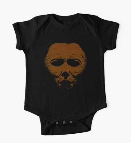 Michael Myers Orange Mask One Piece - Short Sleeve