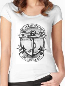 You are my mountain tattoo anchor Women's Fitted Scoop T-Shirt