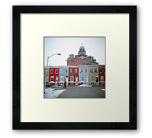 Rowhomes in Baltimore Framed Print