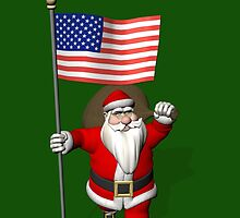 Santa Claus With Flag Of The USA by Mythos57