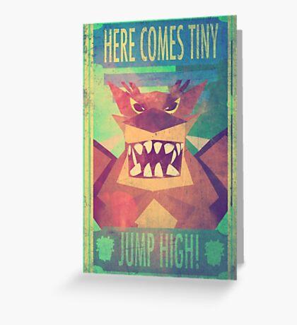 Tiny Tiger - Jump High! Greeting Card