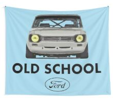 Old School Ford Escort mk1 Men's T-shirts Wall Tapestry
