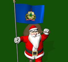 Santa Claus With Flag Of Vermont by Mythos57