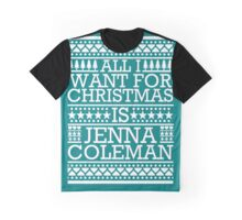 All I Want For Christmas is Jenna Coleman - Teal Scandi Graphic T-Shirt