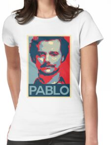 Pablo Escobar Narcos Hope Poster Womens Fitted T-Shirt