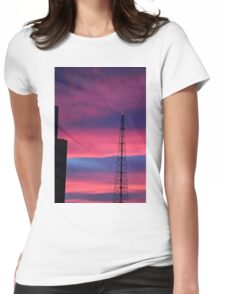 Sunset Tower Womens Fitted T-Shirt