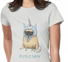 Pugicorn - Fawn Womens Fitted T-Shirt