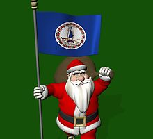 Santa Claus With Flag Of Virginia by Mythos57
