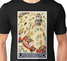 Vintage Lure of the London Underground Travel Unisex T-Shirt