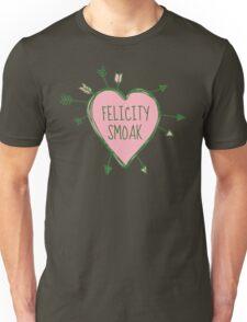 Felicity Smoak - Heart with Green Arrows Doodle Unisex T-Shirt