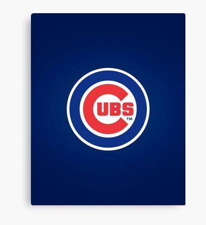 Chicago Cubs logo Canvas Print