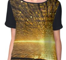 Golden dawn - digitally generated image Chiffon Top