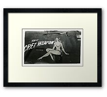 """The Secret Weapon, Rosie"", WW2 Nose Art Framed Print"