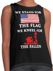 We Stand For The Flag We Kneel For The Fallen Contrast Tank