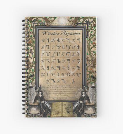 Witches Alphabet Spiral Notebook