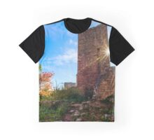 Old medieval castle ruins in Alsace, France. Sunny autumn day. Graphic T-Shirt