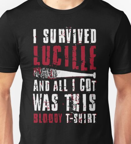 I Survived Lucille. Unisex T-Shirt