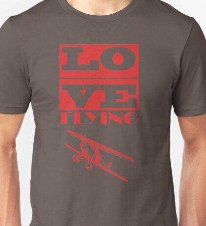 Love Flying Pilot T-Shirt Unisex T-Shirt