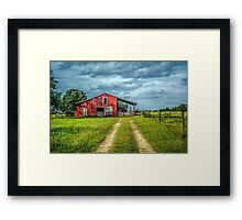 Red Barn Rustic Framed Print