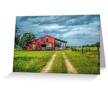 Red Barn Rustic Greeting Card