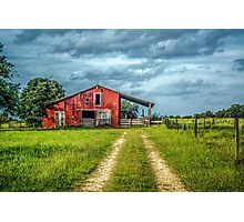 Red Barn Rustic Photographic Print