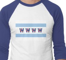 Cubs Win Chicago Flag Men's Baseball ¾ T-Shirt