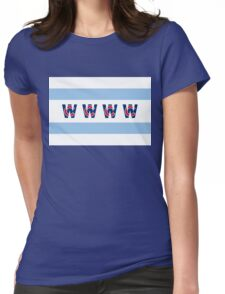 Cubs Win Chicago Flag Womens Fitted T-Shirt