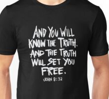 Truth will set you free - Bible verse Christian Unisex T-Shirt