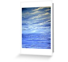 A Study in Blue and White Greeting Card