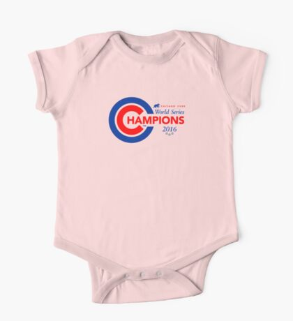 Chicago Cubs Champions One Piece - Short Sleeve
