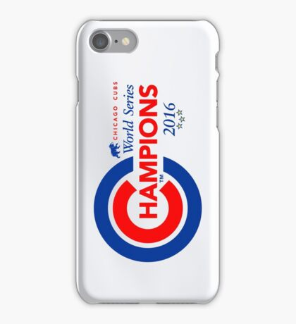 Chicago Cubs Champions iPhone Case/Skin