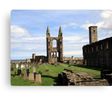 St Andrews' Cathedral - another angle Canvas Print