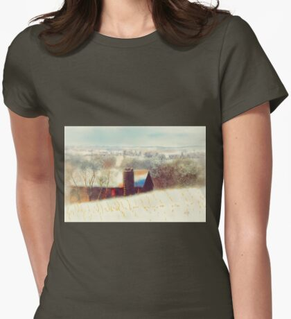 The Barn Over The Hill Womens Fitted T-Shirt