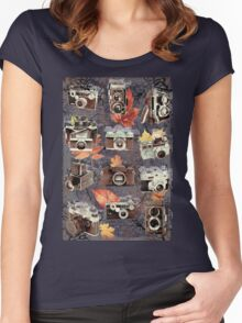 Vintage cameras ( Autumn ) Women's Fitted Scoop T-Shirt