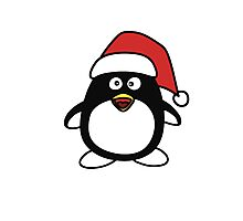Christmas Penguin Photographic Print