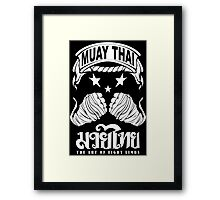 muay thai king fist Framed Print