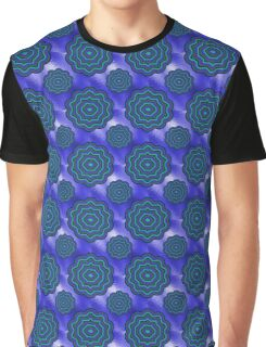 Blue Glass Moony Mums Graphic T-Shirt