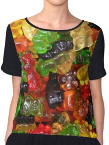 cute colorful sweet candy gummy bear  Chiffon Top