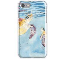 Take A Breath Sea Turtle iPhone Case/Skin