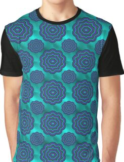 Aqua Glass Moony Mums Graphic T-Shirt