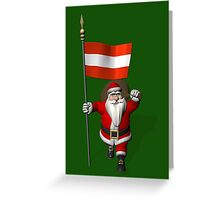 Santa Claus Visiting Of Austria Greeting Card