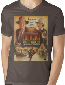 young Indiana Jones chronicles poster Mens V-Neck T-Shirt