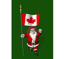Santa Claus With Flag Of Canada Photographic Print