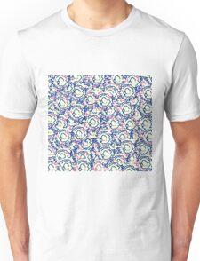 Cool cute girly swirls pink pale blue pattern Unisex T-Shirt