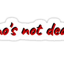 emo emotional grunge lana del ray design emo's not dead t shirts Sticker