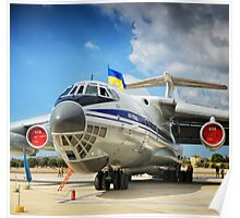 Ukraine airplane in airport - Malta Airshow 2016 Poster